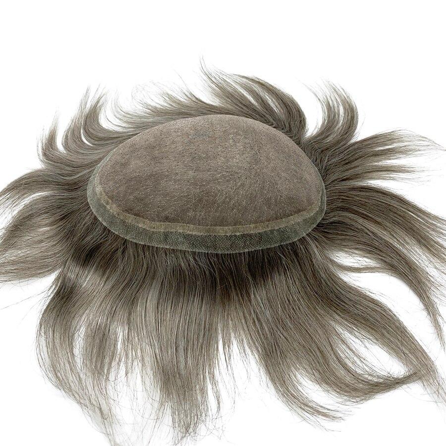 Custom Made Mono Lace Base Any Color Men Toupee Thin Hair Human Hair Toupee