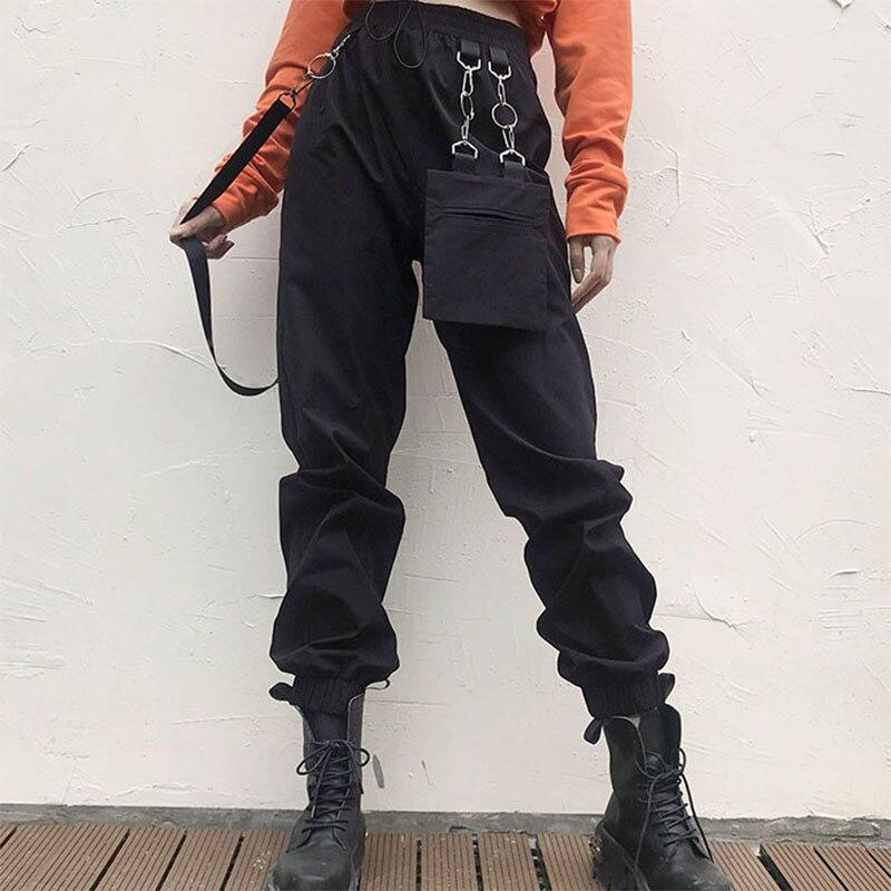 Irregular Removable Casual Women Pants Party Fashion Gothic High Waist Loose Office Hip Hop Pants Plus Size Bottom Harajuku