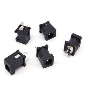 10 шт. вертикальный разъем питания постоянного тока для 5,5x2,1 мм 5,5x2,5 мм разъем питания постоянного тока