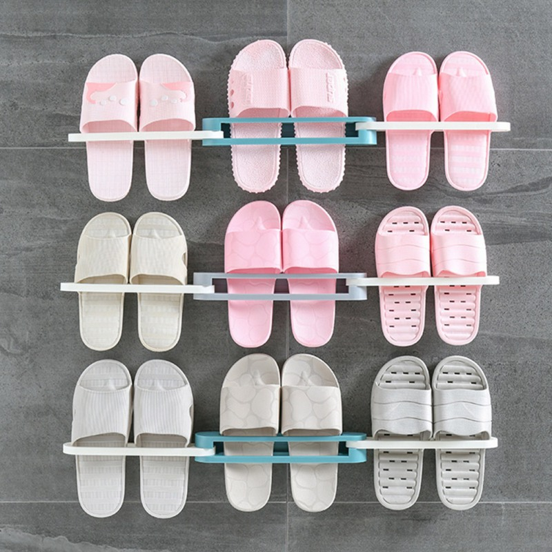Купить с кэшбэком 3 In 1 Shoes Rack Shoe Racks Storage Organizer Wall Mount Slippers Hanging Shelf Slipper Rack Holder Shoes Organizer