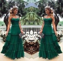2019 Elegant Solid Woman Layered Party Long Dress Summer Casual Ruffles Boho Maxi Dresses Sexy Spaghetti Strap Dresses Vestidos printed spaghetti strap layered swimsuit