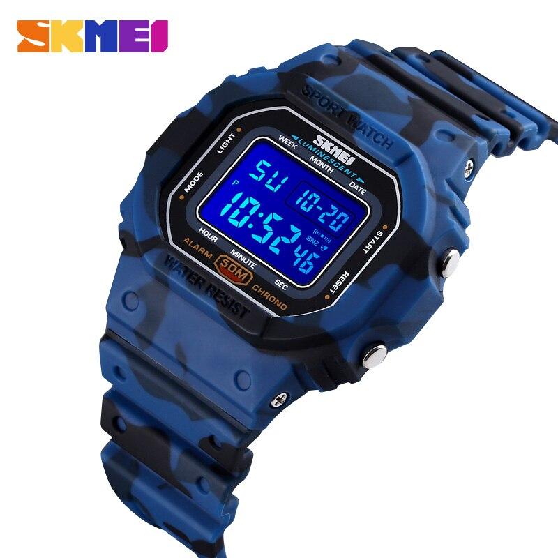 SKMEI Outdoor Military Cowboy Men's Watches Luminous Stopwatch 50M Waterproof Sports Male Wrist Watch Relojes Digital Clock 1608