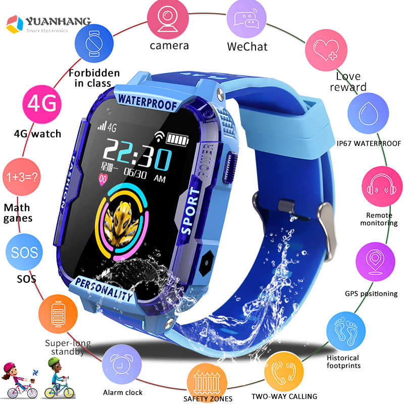 IPX7 Waterproof Smart 4G Remote Camera GPS WI-FI Kids Child Students Smartwatch Video Call Monitor Tracker Location Phone Watch