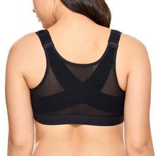 Yeni ön kapatma sutyen sırt desteği postür sütyen kadınlar için artı boyutu iç çamaşırı siyah beyaz bej 34 40 B C D DD