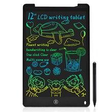 8.5/12 Polegada apagável, tabuleta reusável da escrita do lcd, notepad, placa do doodle com presente personalizado da tela colorida para crianças