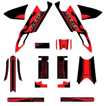New Full Graphics Decals Stickers Custom Number Name 3M Stickers Waterproof For YAMAHA TRICKER