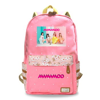 цена на Mamamoo Teenager Girls Canvas Laptop Bags New Fashion Backpack Women Backpack Female Shoulder Bag New School Bag Rucksack bags