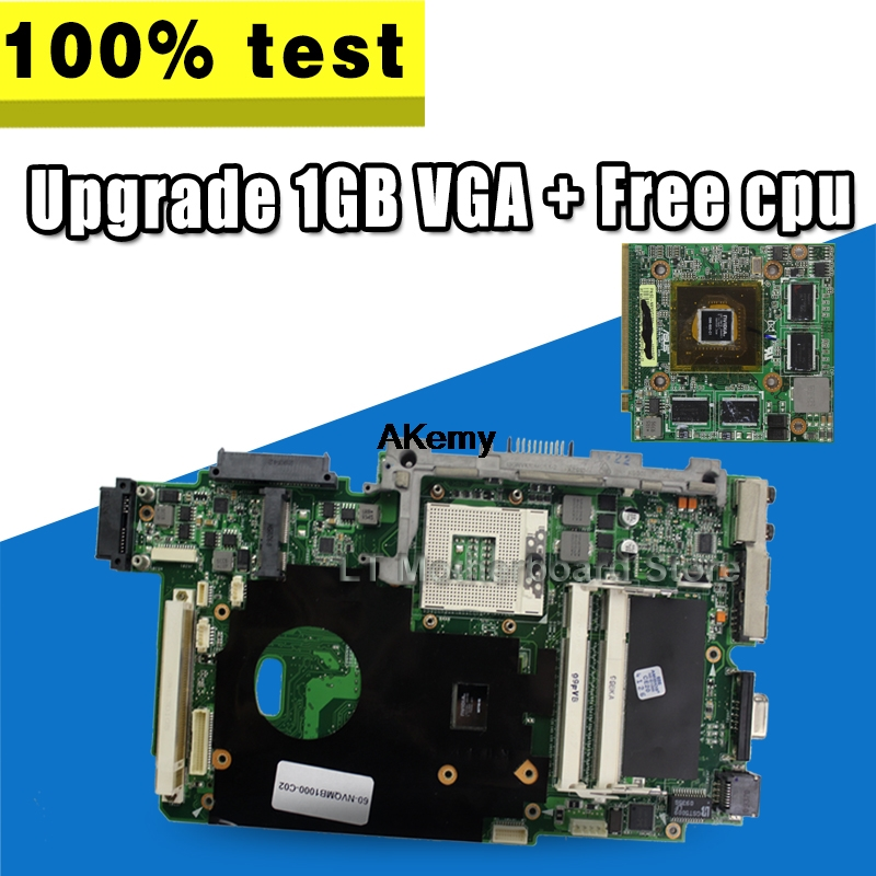 Upgrade 1GB VGA + Free T7500 cpu For ASUS K51AB K51AF K70AF K70AB K70AD Laptop motherboard  Mainboard 100% OK