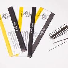 25 pçs saco redondo apontado agulha couro mão costura 4 tamanho de couro artesanato costura acessórios pontos john james saddler agulhas