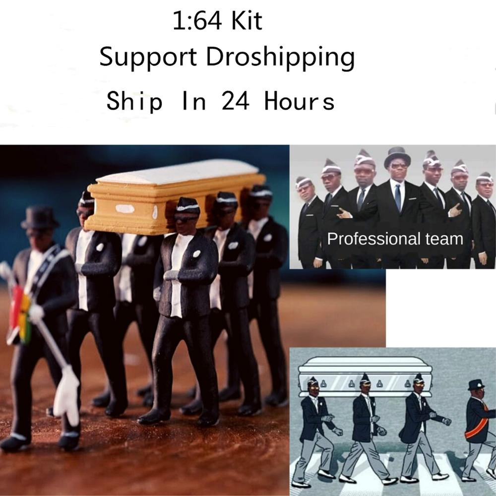 Cosplay Ghana Dancing Pallbearers Coffin Dance Figure Action Funeral Dancing Team Display Funny Accessories Support Dropshipping