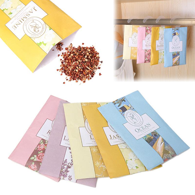 1Pc Hanging Insect Repellent Mildew Deodorant Aroma Bag Natural Air Purification Sachet Car Wardrobe Household Perfume Freshener