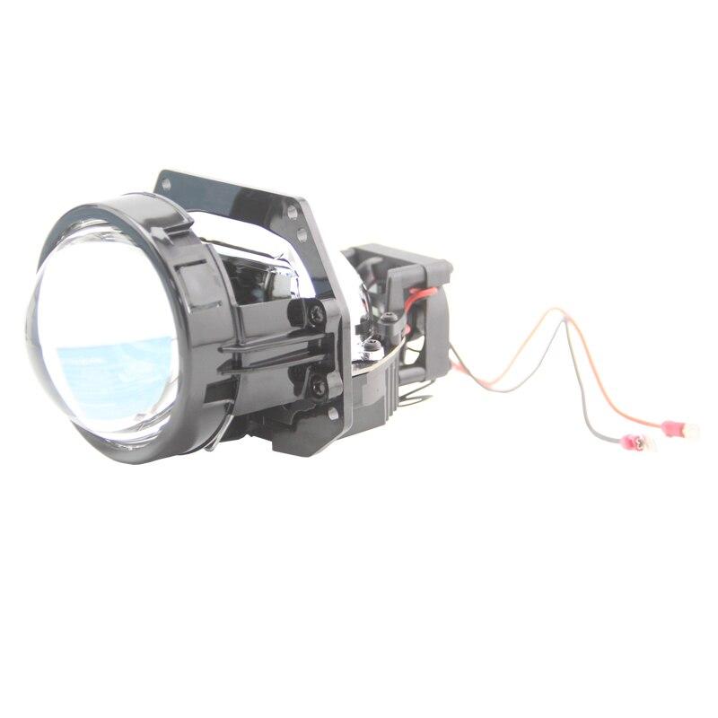 SHUOKE 3.0 Inch BI LED Projector Lens RHD LHD 6000K 8000LM 2 PCS Car Light Accessories Retrofit headlight Plastic Reflector
