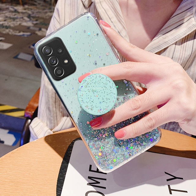 Bling Glitter Case For Samsung Galaxy A51 A52 Cases A50 A70 A71 A21s S20 Plus FE S21 Ultra S10 A32 A31 S9 A12 A72 A20e A41 Cover 5