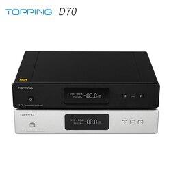TOPPING D70 AK4497*2 DAC AK4118 XMOS XU208 DSD512 Native 32Bit/768kHz Hi-Res audio with Remote Control Decoder