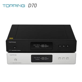 TOPPING D70 AK4497 * 2 DAC AK4118 XMOS XU208 DSD512 Native 32Bit/768kHz hi-res audio con decodificador de Control remoto