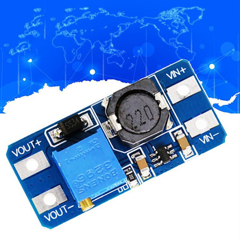 New DC-DC Boost Module 2A Boost Power Supply Board Step Up Converter Booster Input 3V/5V To 5V/9V/12V/24V Adjustable MT3608 image