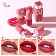 Pudaier 18 Color Mini Capsule Lip Glaze Velvet Fog Feeling Lasting Non Stick Cup Smooth Matte Cross Border Pop