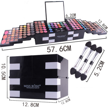 Newly 148 Color Makeups Palette Kit 142 Colors Eyeshadow Pallete Blush Eyebrow Powder Set CLA88