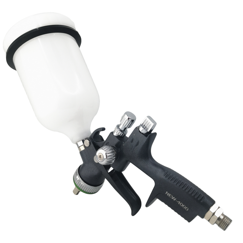 Black Ver NEW-4000 Air Spray Gun HVLP Feed Tips 1.3 With Tank Spray Gun Surface Teflon Treatment