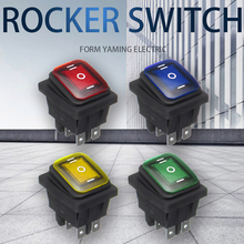 ON-OFF-ON 6 Pins 16A 20A 125V 250V AC Car Boat Led Light Rocker Toggle Switch Latching Waterproof Three Positions