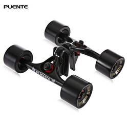 Пуэнте 2 шт./компл. Подвеска для скейтборда с 4 скейтбордами колеса Riser Pad ABEC-9 опорный болт гайка для мини-крейсерский лонгборд