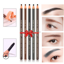 12pcs Waterproof Microblading 1818 Eyebrow Pencil Peel-off Pencil Black Grey Brown Light Brown Natural Brown Color Pencil цена