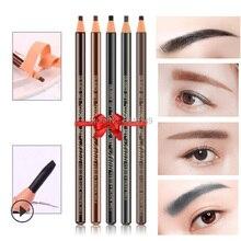 3pcs Waterproof Microblading 1818 Eyebrow Pencil Peel-off Black Grey Brown Light Natural Color