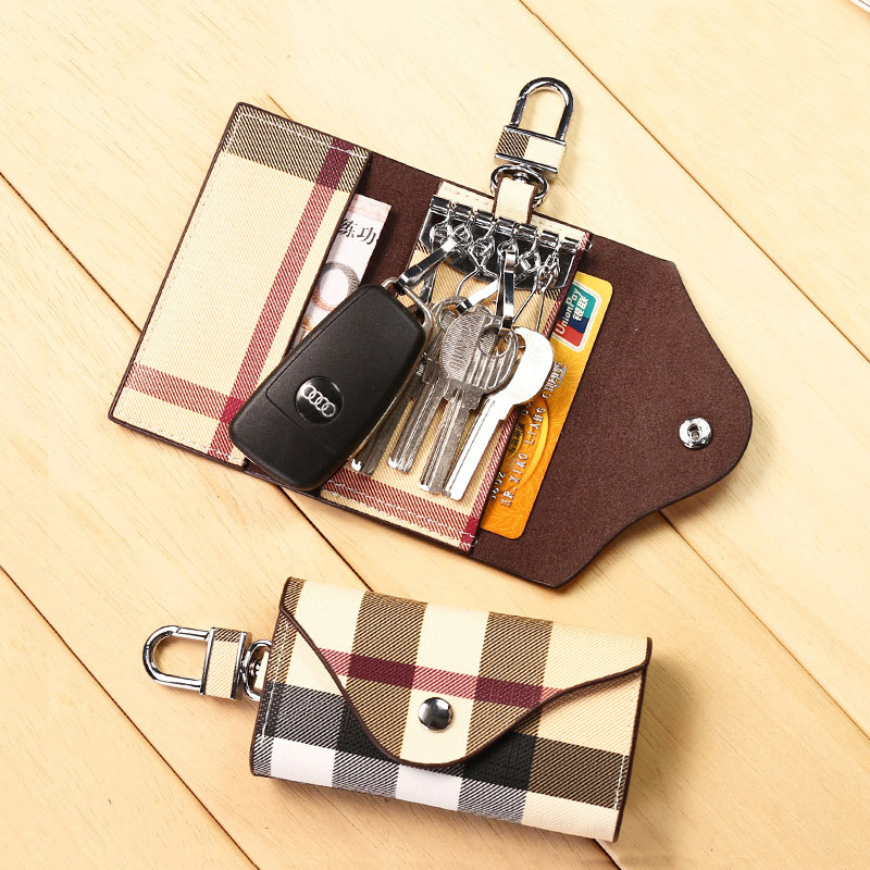 Hot Selling PU Leather Key Cases Male Female Key Bags For Men Women Free Shipping
