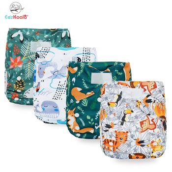 EezKoala New XL Size  Diaper Washable Eco-Friendly Cloth Diaper Adjustable Nappy Reusable Cloth Diapers Fit2-5 Years Baby lecy eco life one size sleeve diaper with color tab square tab baby reusable nappy with stay dry suede cloth inner wholesale