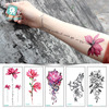Individuality Simple Ink Flower Design Water Transfer Waterproof Temporary Tattoo Sticker For Women Arm Body Art Fake Tattoos