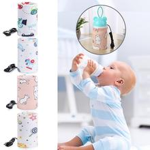 USB Charging Baby Bottle Warmer Portable Milk Cup Heater Infants Newborn Feeding Bottle Cover Nursing Insulated Bag Milk Warmer