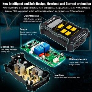Image 4 - KONNWEI KW510 جهاز اختبار بطارية السيارة الأوتوماتيكي بالكامل ، 12 فولت ، شاحن بطارية 5A ، أداة إصلاح هلام الرصاص AGM