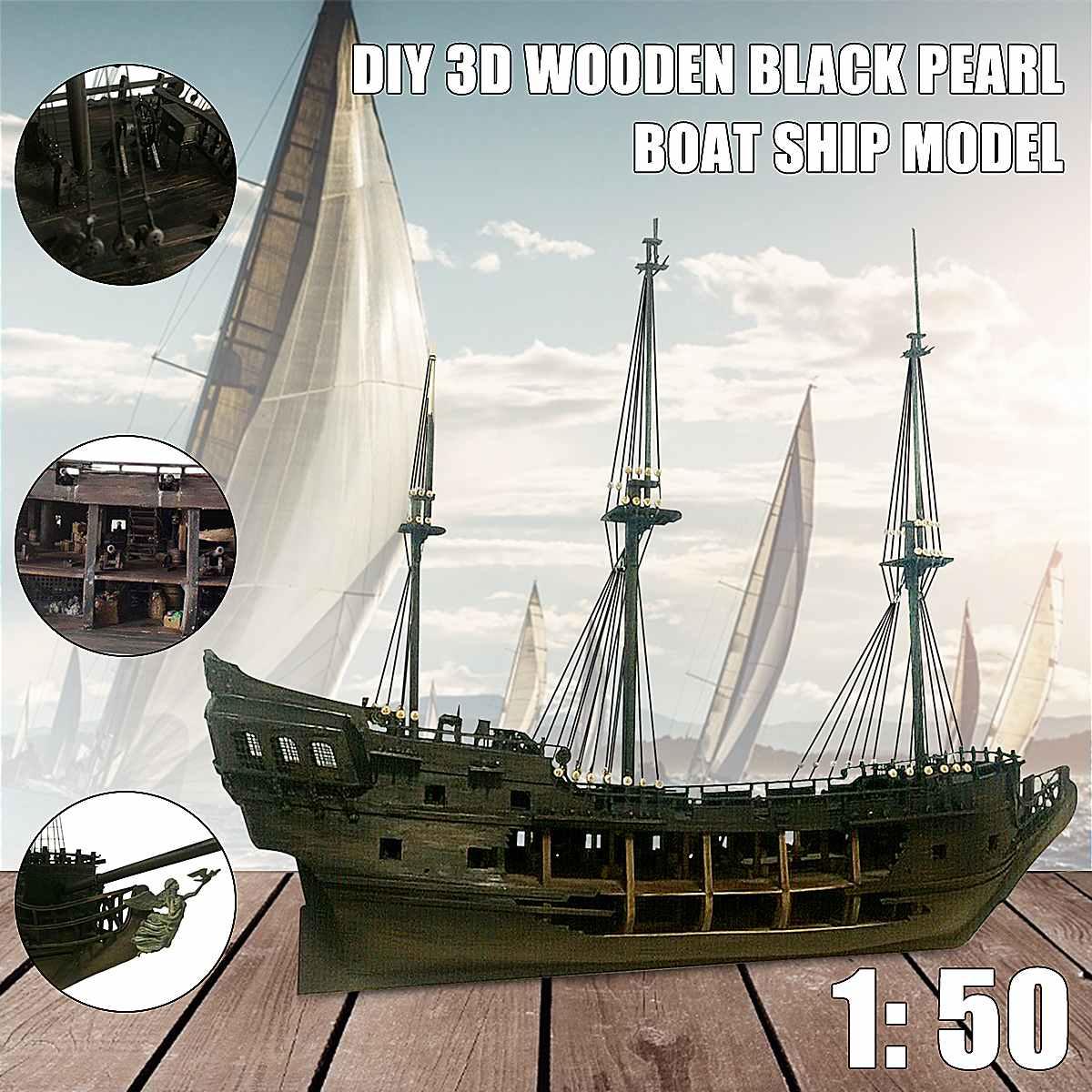 1:50 DIY De Black Pearl Model Schip Kits Voor Gift Voor s Van De Caribbean Diy Set Kits Montage Boot speelgoed model kit