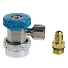 1pc Quick Coupler Adapters R134A H / L Air Condition Refrigerant A/C Manifold Gauge Blue Red R-134A Adapter Opener