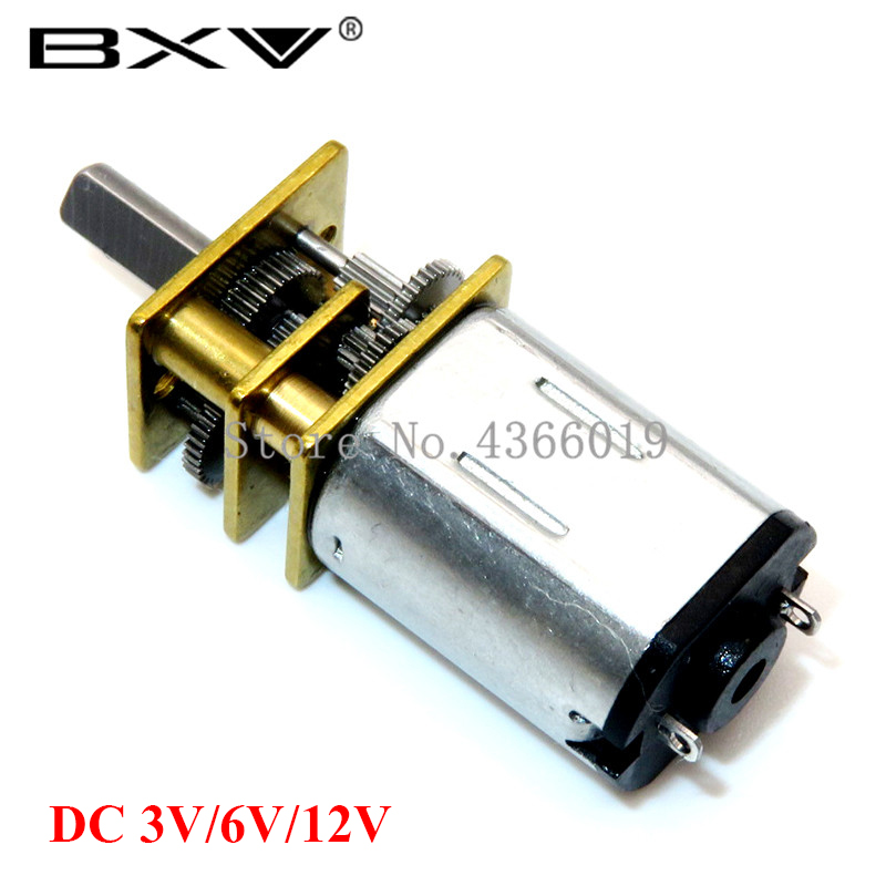 DC 3V/6V/12V <font><b>N20</b></font> Mini Micro <font><b>Metal</b></font> <font><b>Gear</b></font> Motor with Gearwheel DC Motors 15/30/50/60/100/200/300/500/1000RPM image