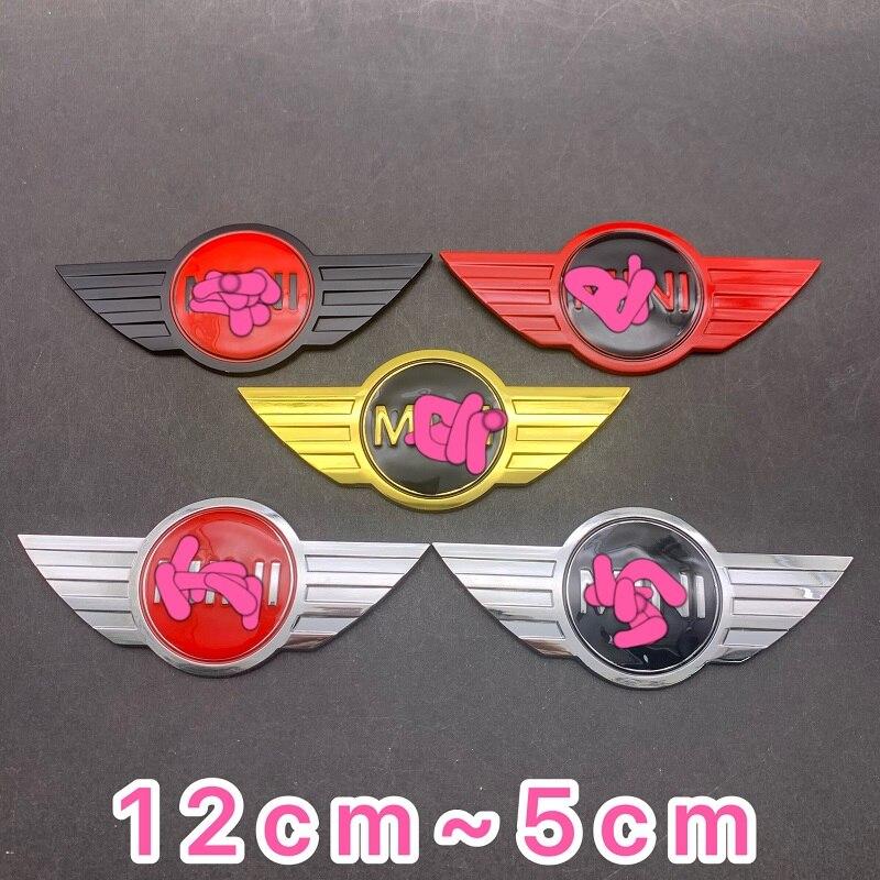 Металлический 3d мини-автомобильный значок эмблема логотип наклейки для MINI Cooper CABRIO WORKS S Передняя Крышка для головы задняя коробка для головы...