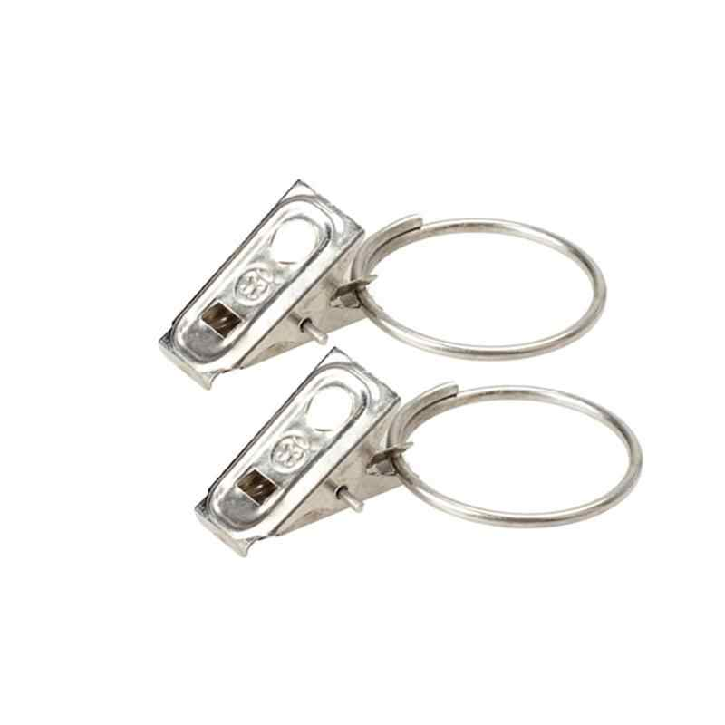 20 Buah/Bungkus Rod Klip Cincin Jendela Shower Tirai Kain Klip Stainless Steel Modern Tirai Cincin Aksesoris Perlengkapan Rumah