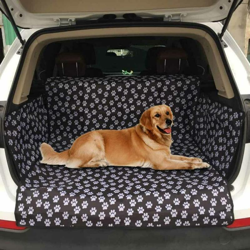 3 In 1 Dog Car Seat Cover Waterproof Boot Liner Trunk Car Cover Protector For Pets Auto Boot Liner Blanket Fits Most Cars Scratc