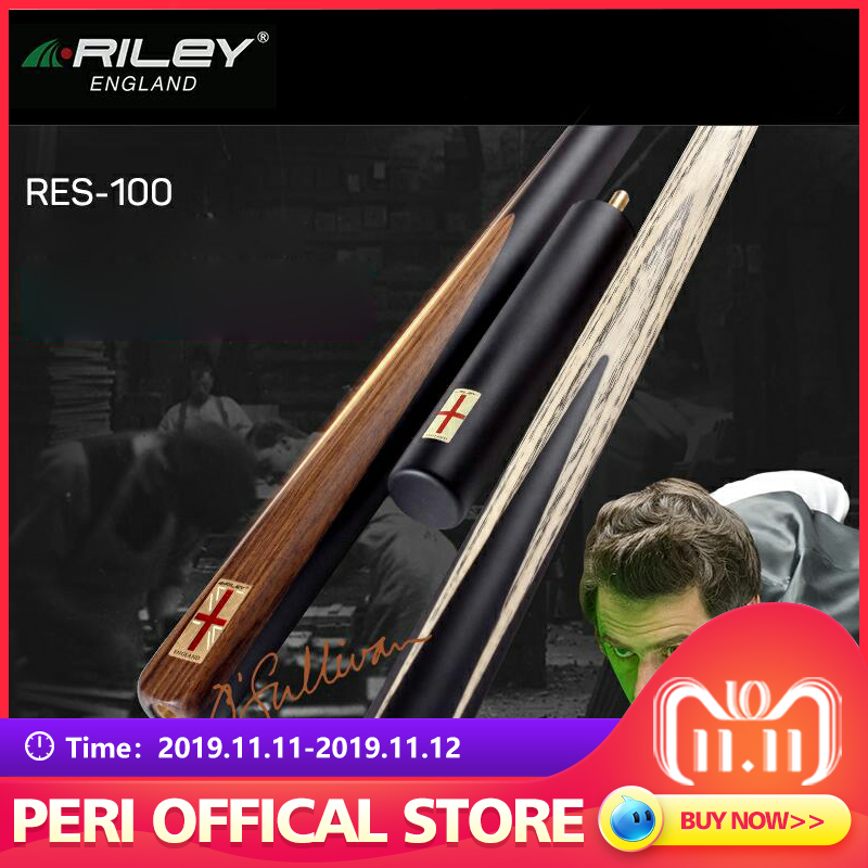 RILEY RES100 Snooker Cue 3/4 Pieces 9.5mm Deer Master Tip High-ranking Ashwood Shaft Billar with Solid Extension