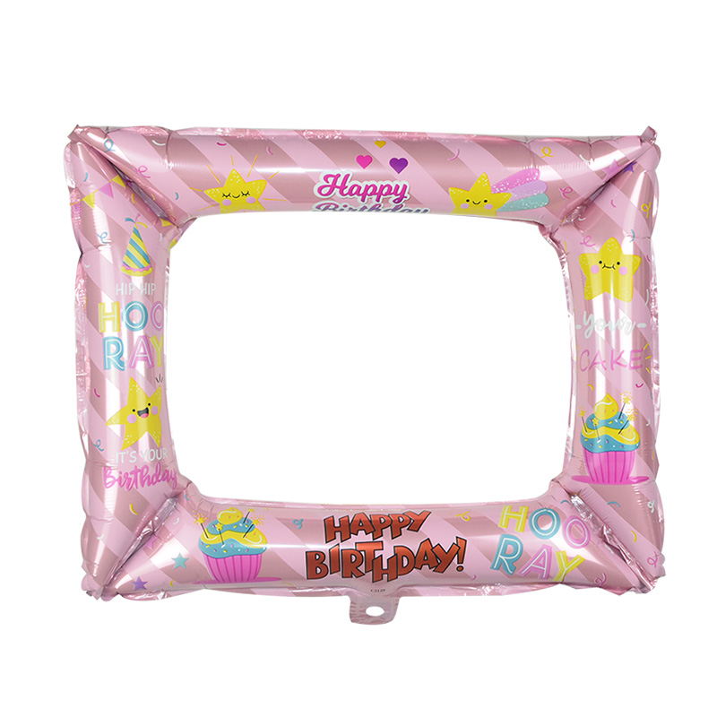 1Pcs Photo Booth Balloons Made With Foil Material For Birthday Photo Frame Globos 9