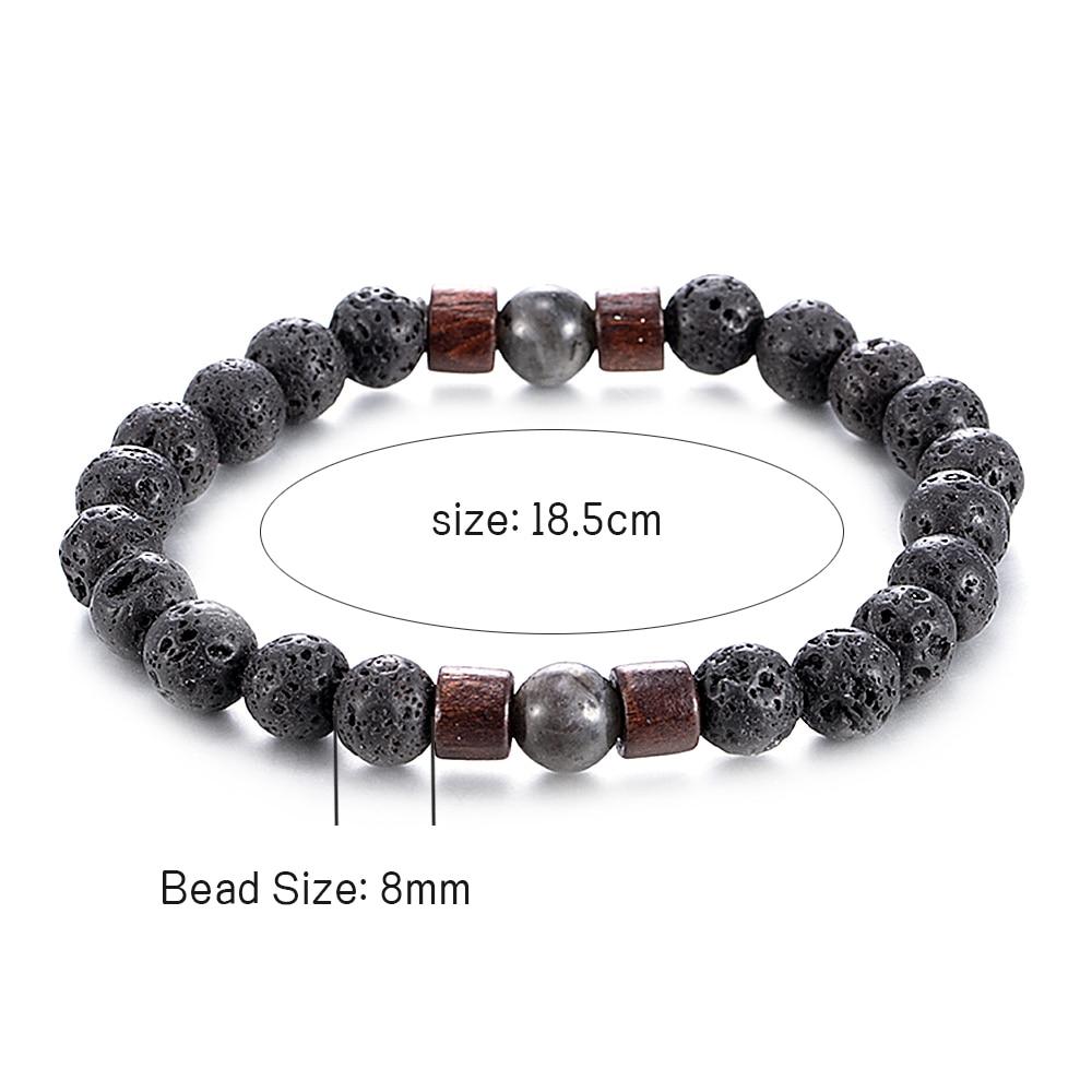 Fashion Women Men Lava Rock Stone Elasticity Yoga Beads Bracelet Lovers Party Bracelet Jewelry Gift 5