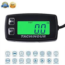 RL-HM035R Backlight high quality Hour Meter Tachometer RPM METER For ATV Tractor Generator lawn Mower Pit bike outboard MARINE digital lcd tachometer hour meter thermometer temperature for gas utv atv outboard buggy tractor jet ski paramotor