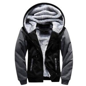 Image 4 - Kış erkek kalınlaşmak polar Hoodies sıcak tişörtü katı spor fermuarlı kapüşonlu kıyafet erkekler kapşonlu dış giyim rahat rüzgarlık Tops