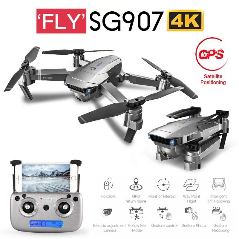 ZWN SG907 SG901 GPS Drone с Wi Fi FPV 1080P 4K HD двойной камерой, оптический поток RC Quadcopter Follow Me Mini Dron VS SG106 E520S|Дроны с камерой|   | АлиЭкспресс