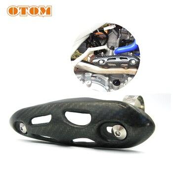 OTOM tłumik do rury wydechowej z włókna węglowego osłona termiczna etui Motocross Dirt motocykl miejski do KTM HONDA KAWASAKI