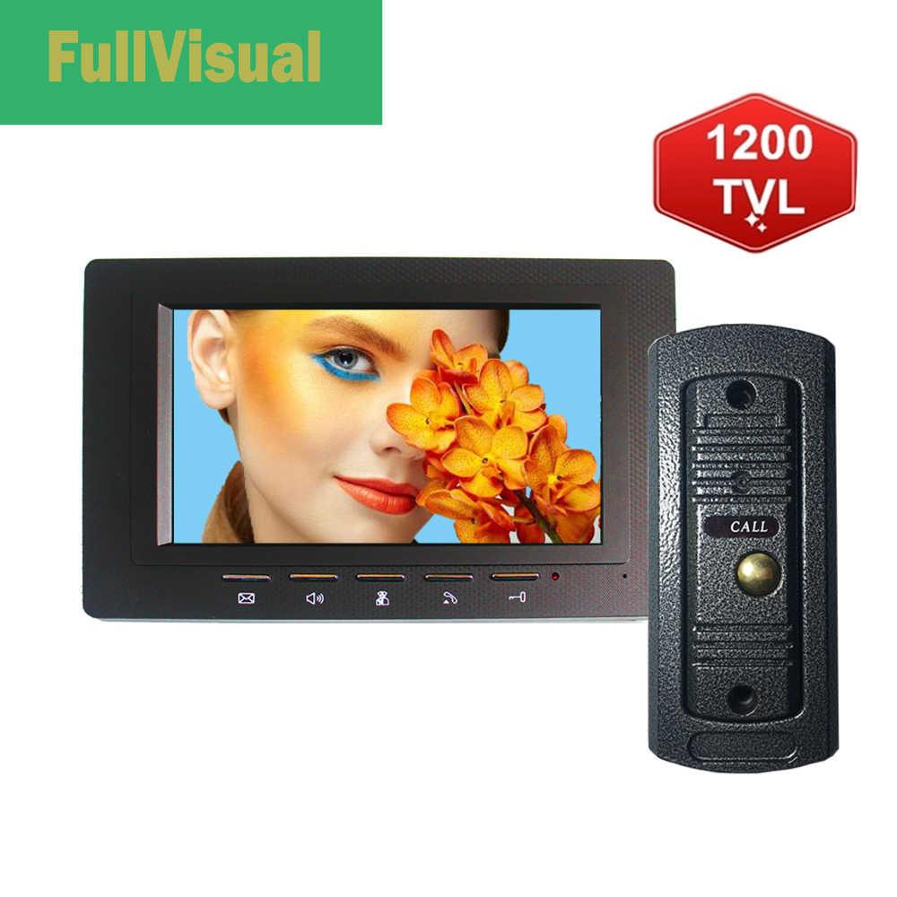 Fullvisual 1200TVL Doorbell Call แผงกล้องสำหรับโทรศัพท์ประตูวิดีโอ Intercom Access Control System
