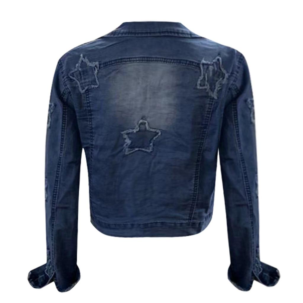 Ha862da79249c4dedaa647acb83b010840 2019 Autumn And Winter Women Denim Jacket Vintage Cropped Short Denim Coat Long-sleeve Slim Jeans Coat For Women#J30