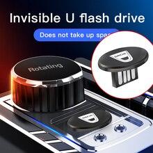 Onzichtbaarheid Metalen Usb Mini Draagbare U Disk Auto Styling Voor Dacia Duster Logan Sandero Lodgy Stepway Mcv 2 Dokker Accessoires