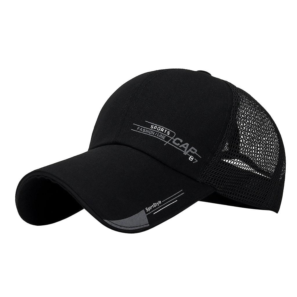 Unisex Women Mesh   Baseball     Cap   Adjustable Trucker Outdoor Sport Hip-hop Hat   Cap   Man Male   Cap   Men'S   Baseball     Cap   #D8