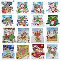 8 шт. DIY Алмазная картина поздравительная открытка специальная часть дрель мозаика Счастливого Рождества Вышивка Набор Санта рождественски...